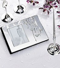 Lillian Rose® Silver Butterfly Pen Stand