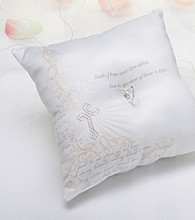 Lillian Rose® White Christian Ring Bearer Pillow