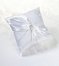 Lillian Rose® White Lace & Flower Ring Bearer Pillow