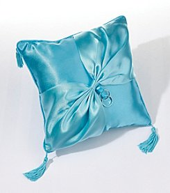 Lillian Rose® Aqua Satin Ring Bearer Pillow