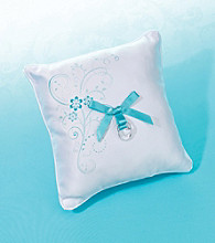 Lillian Rose® White Satin Ring Bearer Pillow with Floral Accents
