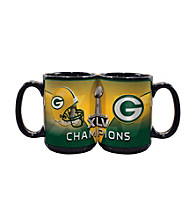 Memory Company Green Bay Packers® Big Game Champions Large Black Mug