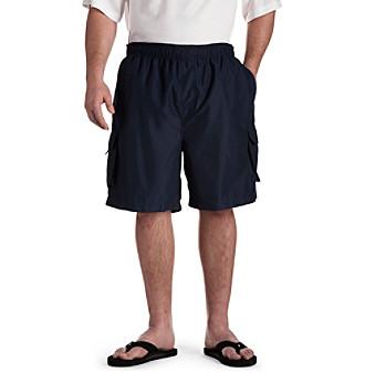 Island Passport® Men's Big & Tall Cargo Swim Trunks - Navy