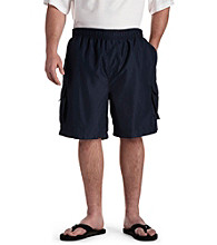 Island Passport® Men's Big & Tall Cargo Swim Trunks - Navy