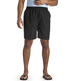 Harbor Bay® Men's Big & Tall Solid Swim Trunks - Black