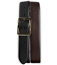 Harbor Bay® Men's Big & Tall Leather Dress Belt - Black/Brown