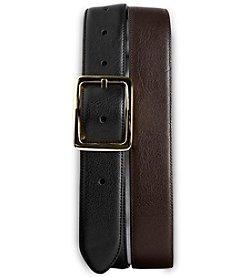 Harbor Bay® Men's Big & Tall Leather Dress Belt - Black/Brown