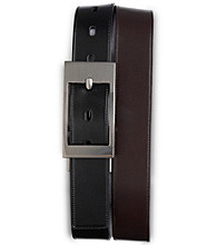 Harbor Bay® Men's Big & Tall Reversible Leather Dress Belt - Black/Brown