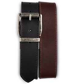 Harbor Bay® Men's Big & Tall Reversible Leather Jeans Belt - Black/Brown