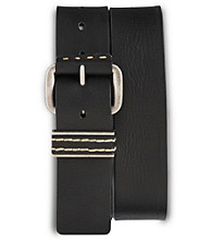 True Nation® Men's Big & Tall Vintage Leather Jeans Belt - Black