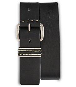 True Nation® Men's Big & Tall Vintage Leather Jeans Belt - Black