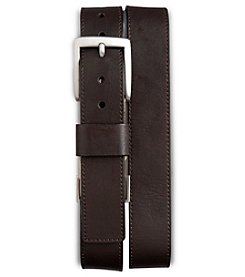 Harbor Bay® Men's Big & Tall Stretch Leather Belt - Brown