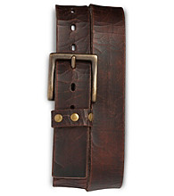 True Nation® Men's Big & Tall Vintage Leather Belt - Brown