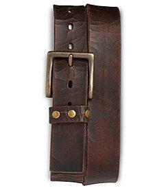 True Nation® Men's Big & Tall Vintage Leather Belt - Brown