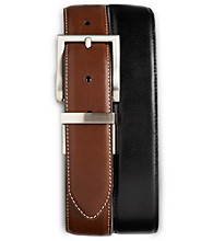 Harbor Bay® Men's Big & Tall 2-for-1 Leather Dress Belts - Black/Brown