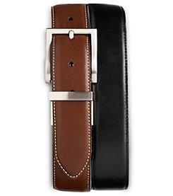 Harbor Bay® Men's Big & Tall 2-for-1 Leather Dress Belts - Black/Brown