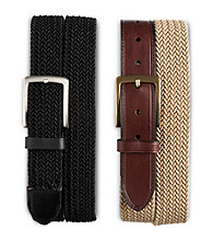 Harbor Bay® Men's Big & Tall Stretch Braided Leather Belt