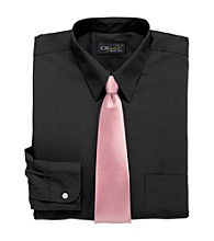 Gold Series™ Men's Big & Tall Neck-Relaxer® Broadcloth Dress Shirt