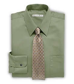 Geoffrey Beene® Men's Big & Tall Solid Sateen Dress Shirt - Cypress Green