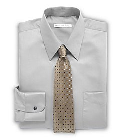 Geoffrey Beene® Men's Big & Tall Solid Sateen Dress Shirt - Gray
