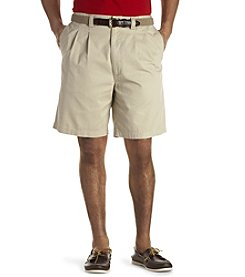 Canyon Ridge® Men's Big & Tall Waist-Relaxer® Pleated Twill Shorts