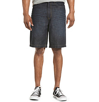 555 Turnpike™ Men's Big & Tall Fashion Denim Shorts - Blue/Black