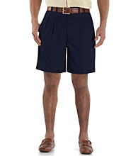 Cutter & Buck® Men's Big & Tall Microfiber Pleated Shorts