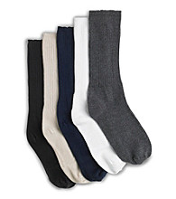 Harbor Bay® Men's Big & Tall Continuous Comfort Extra-Wide Socks