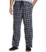 Canyon Ridge® Men's Big & Tall Plaid Knit Pants - Black