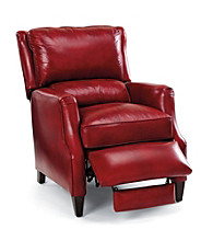Bradington-Young® Schaumburg Red Leather High-Leg Recliner