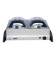 Deni Dual Buffet Server and Warming Tray with Metal Lids