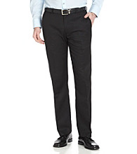 Calvin Klein Men's Straight Fit Dress Pants - Black