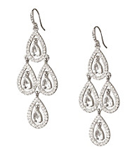 Carolee® Pave Chandelier Earrings