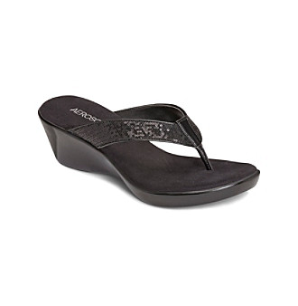 "Aerosoles® ""Wide Eyes"" Wedge Flip-Flops"