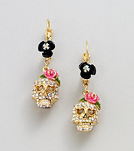 Betsey Johnson® Skull Drop Earrings