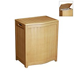 Oceanstar Bowed-Front Natural Laundry Hamper