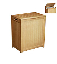 Oceanstar Rectangular Natural Laundry Hamper