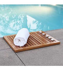 Oceanstar Bamboo Floor & Shower Mat