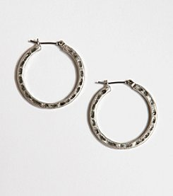 Lucky Brand® Small Hammered Metal Hoop Earrings - Silvertone