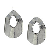 Jessica Simpson Silvertone Ruffle Earrings