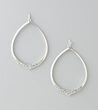 Jessica Simpson Open Hoop Crystal Earrings