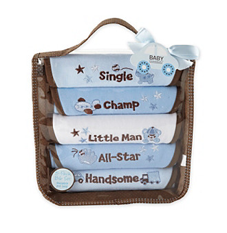 Baby Essentials® Baby Boys' 5-Pack Bib Set - Blue