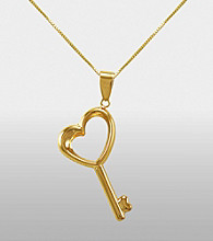 Sterling Silver and 14K Auragento® Key Pendant