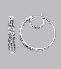 .50 ct. t.w. Diamond Triple Hoop Earrings