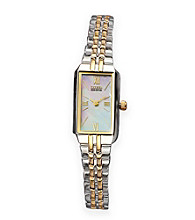 Citizen® Ladies' Stainless Steel 2-Tone Watch with Mother Of Pearl Dial