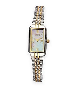 Citizen® Ladies' Stainless Steel Two-Tone Watch with Mother of Pearl Dial