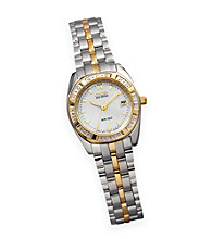 Citizen® Ladies' Mother Of Pearl and Diamond Accented Stainless Steel Watch