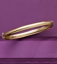 Sterling Silver and 14K Gold Auragento Polished Bangle Bracelet