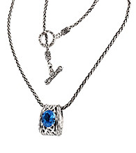 Effy® Blue Topaz Pendant in Sterling Silver