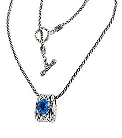 Effy® Blue Topaz Pendant in Sterling Silver